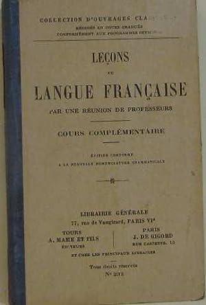 Leçons de langue française: Collectif