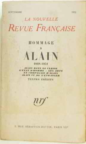 Hommage à alain 1868-1951: La Nouvelle Revue