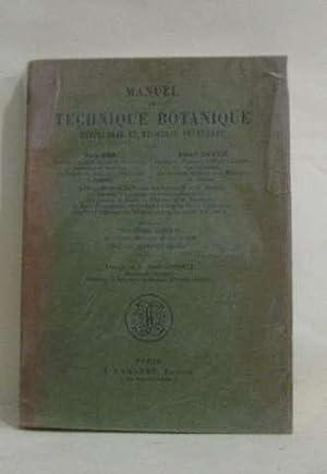 Manuel de technique botanique: Dop Paul, Gautié