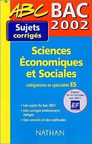 Bac 2002 Sciences économiques et sociales ES: Bouquillion Cécile, Deshayes