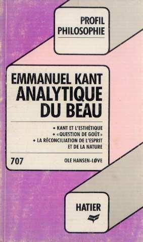 Analytique Du Beau: Emmanuel Kant