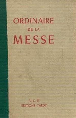 Ordinaire de la messe, extrait du missel
