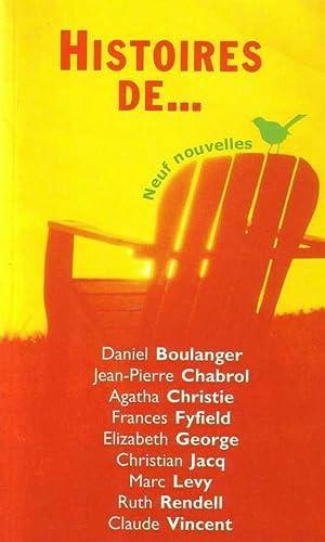 Histoires de. neuf nouvelles: Boulanger Daniel, Chabrol