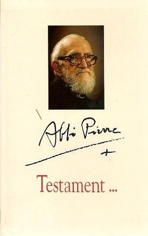 Testament.: L'abbe Pierre