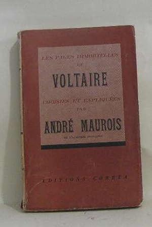 Les pages immortelles de voltaire choisies et: Maurois André