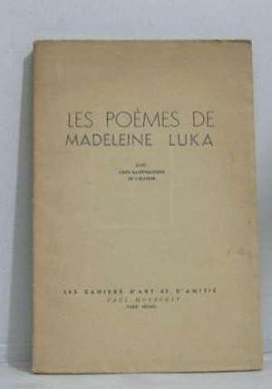 Les poèmes de madeleine luka: Luka Madeleine
