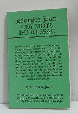 Les Mots du ressac (Poésie 74): Georges Jean