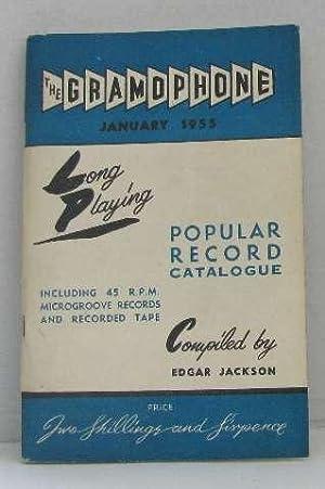 Popular record catalogue - the gramophone january