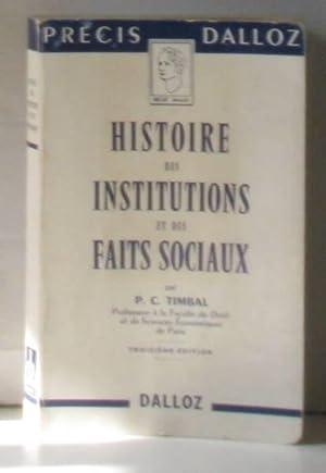 Histoire des institutions publiques et des faits: Timbal P.c