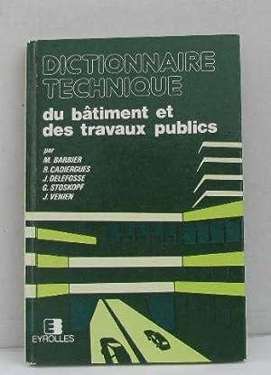 dictionnaire technique du batiment pdf