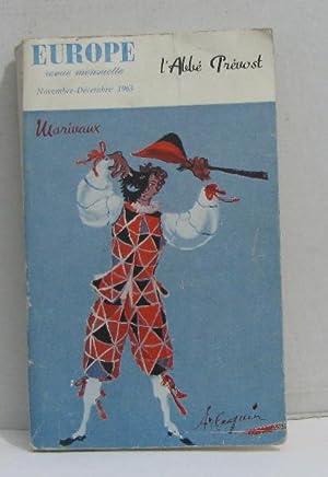 Europe revue mensuelle nov-dec 1963 Marivaux: L'abbé Prévost
