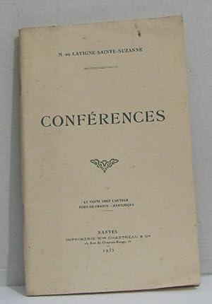 Conférences: M. De Lavigne