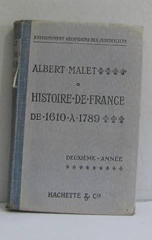 Histoire de france et notions sommaires d'histoire: Malet Albert