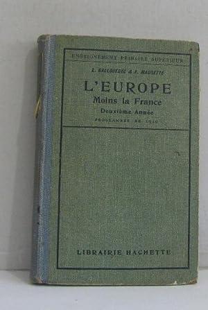 L'europe moins la france: Gallouédec L. Maurette