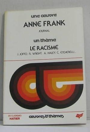 Le journal d'Anne Frank : Le racisme: Anne Frank