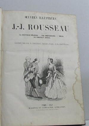 Oeuvres illustrées la nouvelle héloise - les: J.-j Rousseau, Mm.