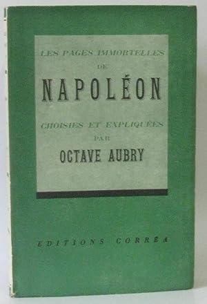 Les pages immortelles de Napoléon, choisies et: Aubry