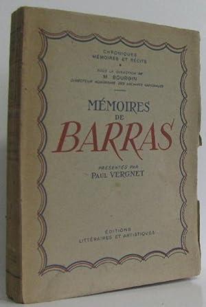 Mémoires de Barras. Collection Chroniques, Mémoires et: Vergnet Paul