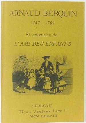 1747-1791 Bicentenaire de l'ami des enfants, (numéro: Berquin
