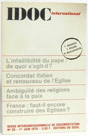Idoc international: l'infaillibilité du Pape: de quoi: Collectif