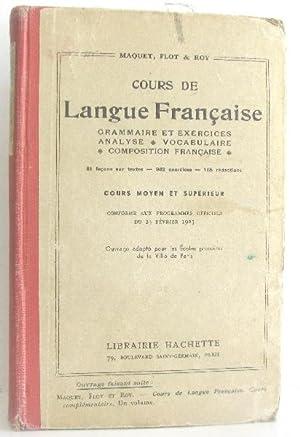 Cours de langue française: Maquet Ch Flot