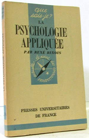 La psychologie appliquée: Binois