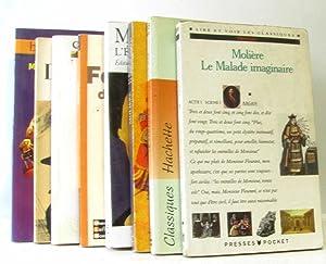 Lot de 8 livres: L'avare, Dom Jun,: Molière