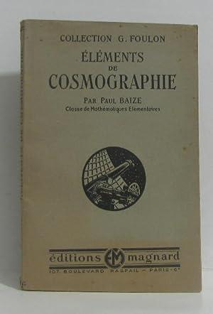 Éléments de cosmographie: Baize Paul