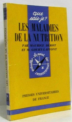 Les maladies de la nutrition: Dérot