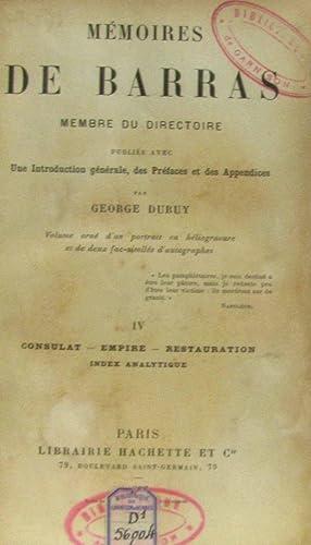 Mémoires de Barras, membre du directoire; tome: Barras, Duruy