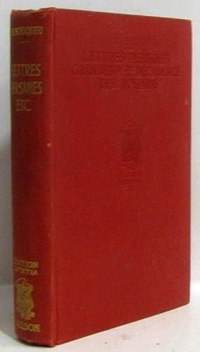 Lettres persanes, grandeur et décadence des romains,: Montesquieu