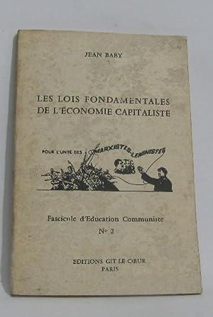 Les lois fondamentales de l'économie capitaliste -: Baby Jean