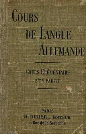 Cours de langue allemande, cours élémentaire deuxième: Mathis, Meneau, Muller,