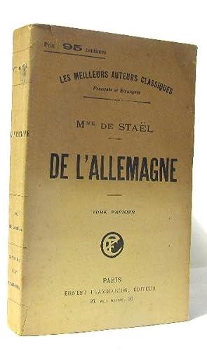 De l'allemagne tome premier: Mme De Stael