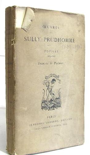 Oeuvres Poésies 1865 1866 Stances Poèmes
