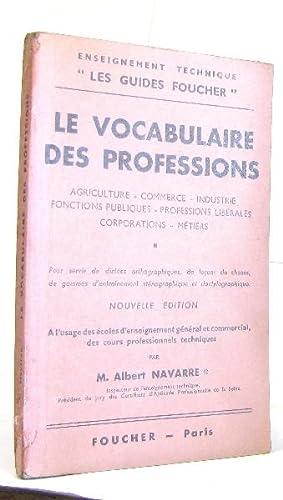 Le vocabulaire des professions: M. Albert Navarre