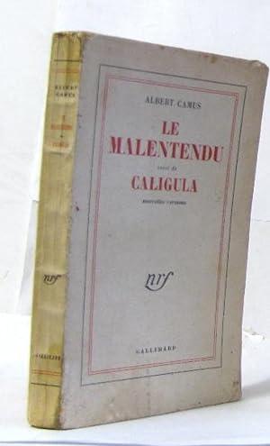 Le malentendu suivi de caligula: Camus Albert