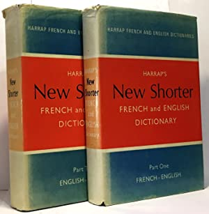 Harrap's shorter french and english dictionary - part one + part two