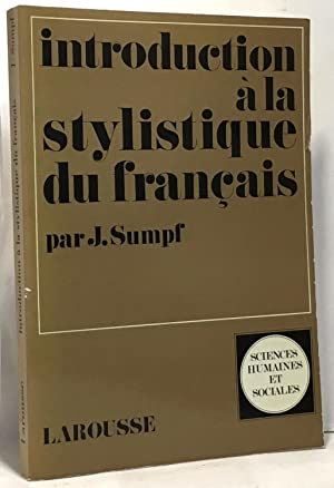 Intriduction à la stylistique du français
