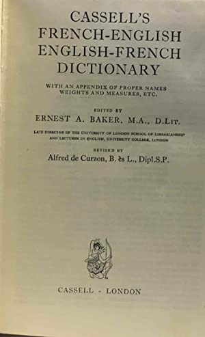 Cassell's franch english english french dictionary with an appendix of proper names wieghts and m...