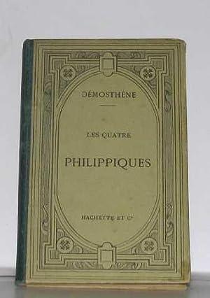 Les quatre philippiques texte grec: Démosthène