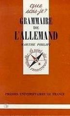 Grammaire de l'allemand: Philipp Marthe