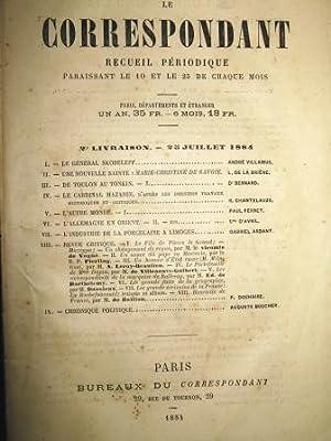 Le Correspondant. Religion, Philosophie, Histoire, Politique, Littérature,: SKOBELEFF (général) /