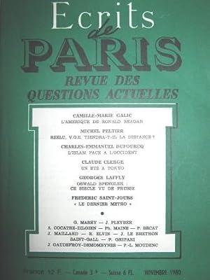 Ecrits de Paris. Revue des Questions actuelles.: Etats-Unis / Amérique
