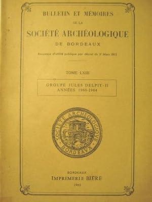 Bulletin et Mémoires de la Société Archéologique: LA SALLE (Jean