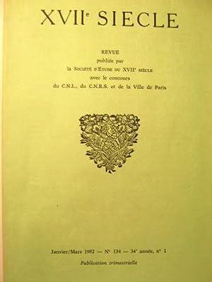 XVIIe Siècle. Revue trimestrielle. N° 134.: RACINE (Jean) /