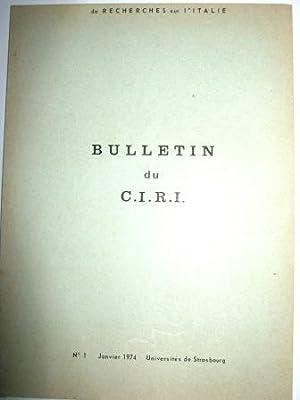 Bulletin du C.I.R.I. (Centre Interdisciplinaire de Recherches: MAZZINI (Giuseppe) /