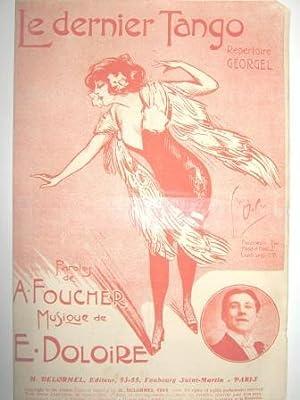 Le Dernier Tango. Répertoire GEORGEL. Paroles d'A.: FOUCHER (A.) et