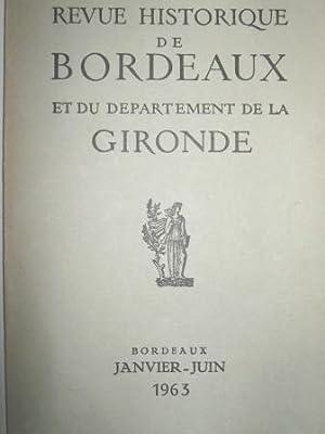 Revue Historique de Bordeaux et du Département: GOURGUE (Marc-Antoine de)