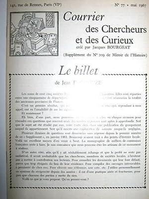 Courrier des Chercheurs et des Curieux, créé: LA FAYETTE /